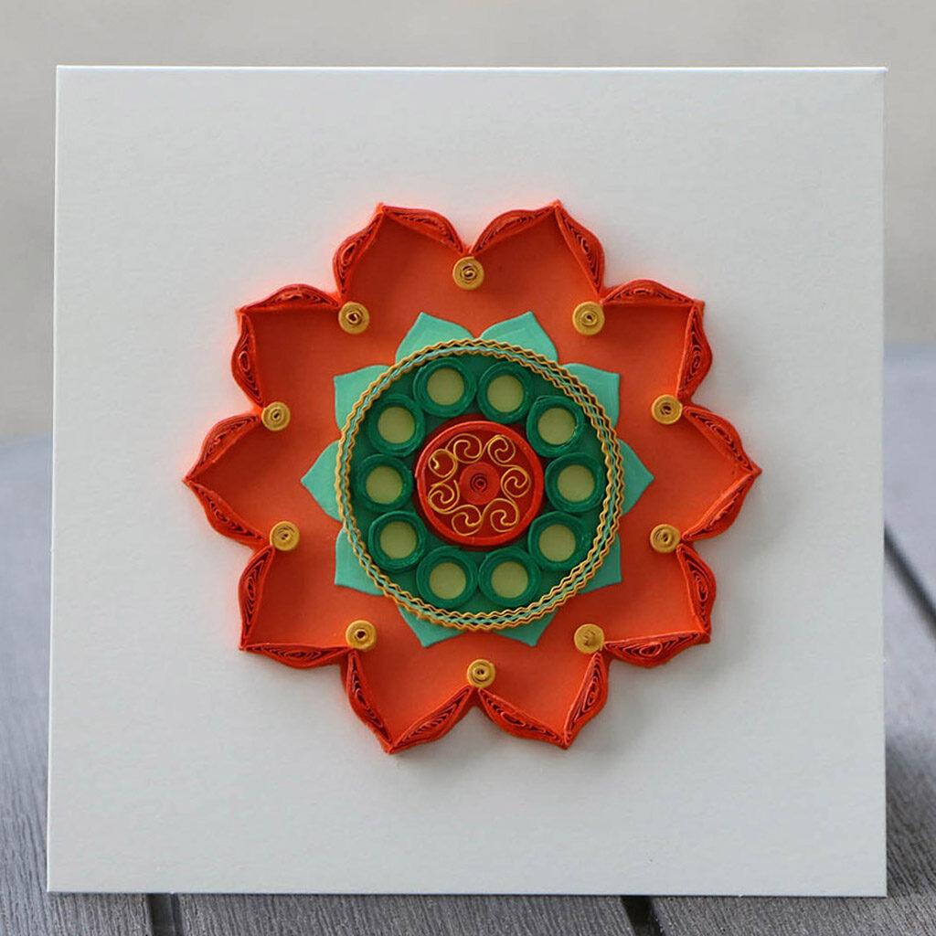 Mandala card_quilling