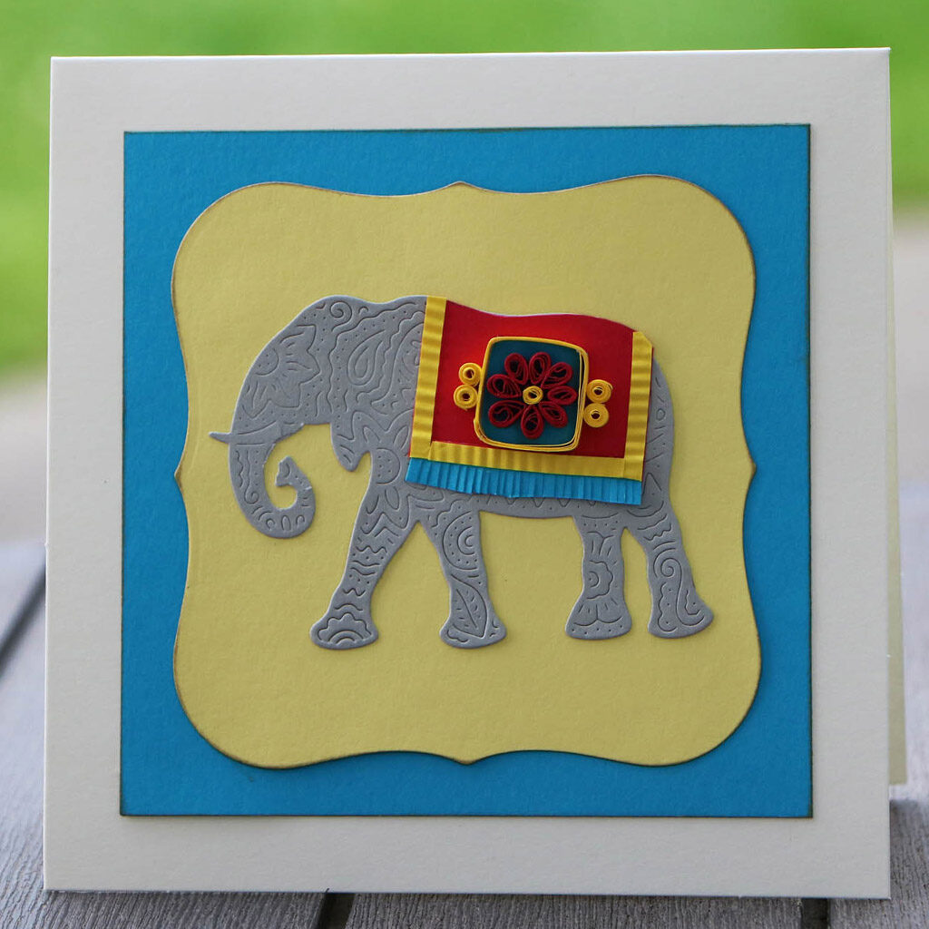 elephant_quilled card