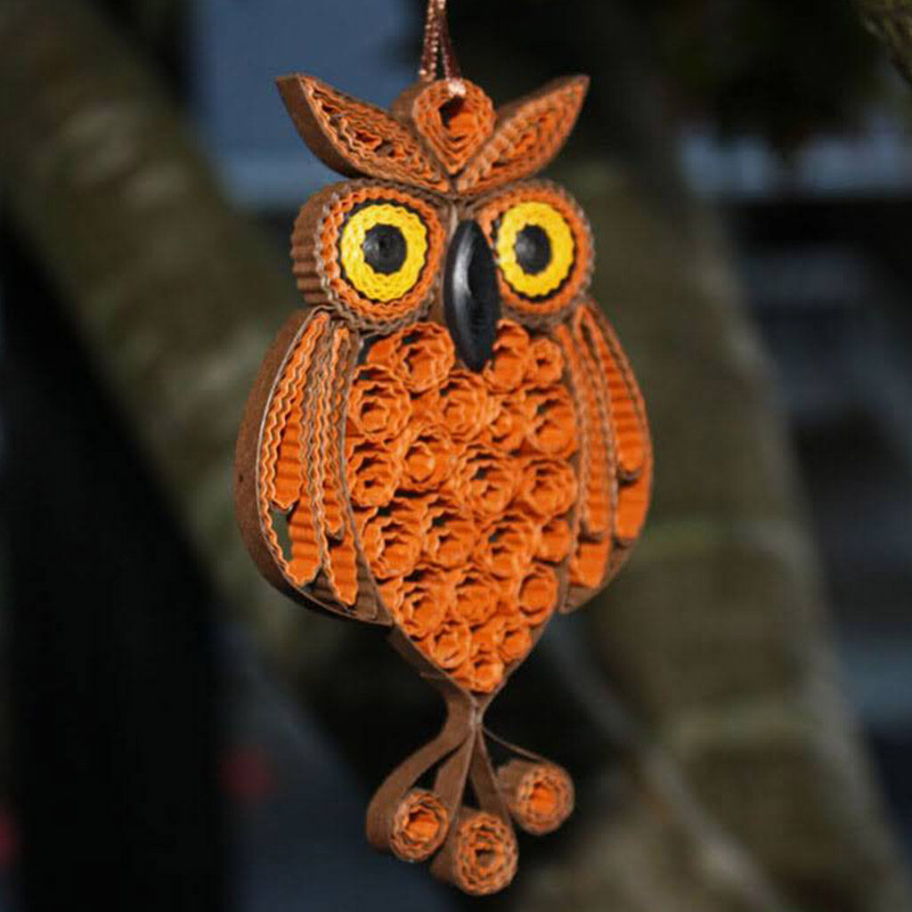 owl_paper quilling_ornament