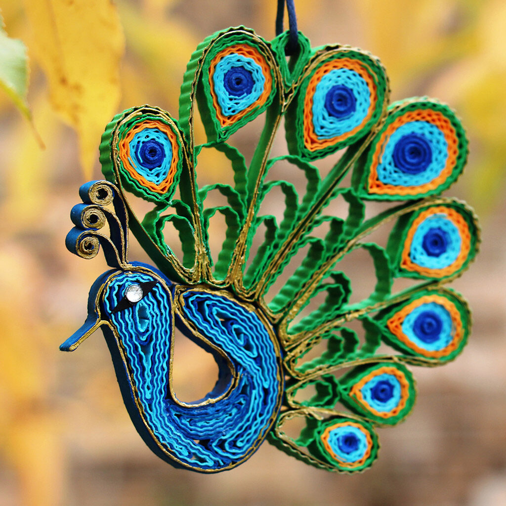 peacock_paper quilling_ornament