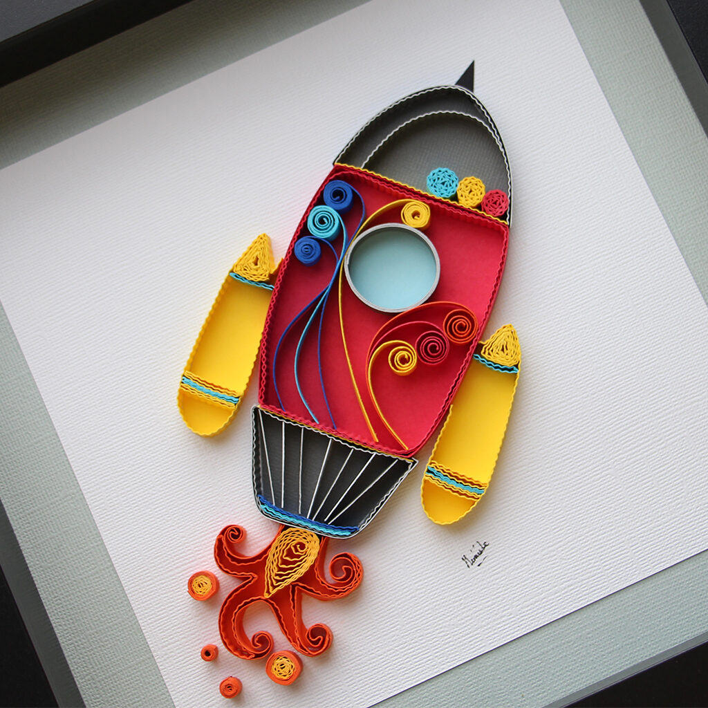 sapce ship_quilled